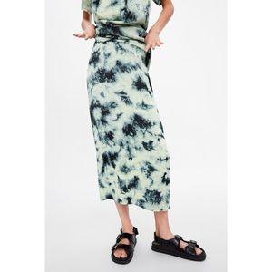 ZARA Batik Tie Dye Skirt